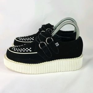 TUK Suede Low Creepers Black White Sz 5
